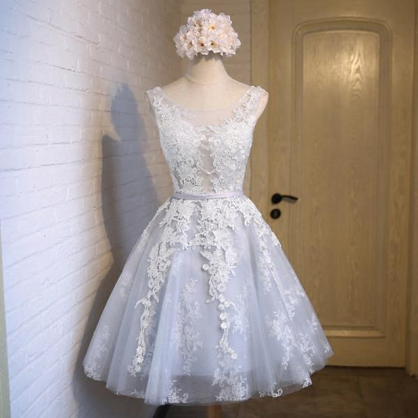 Real Picture,Short Prom Dress,Bridesmaid Dresses,Tulle,Appliques,Evening Dresses,Women Dresses,Wedding Dress,Party Dress 2016